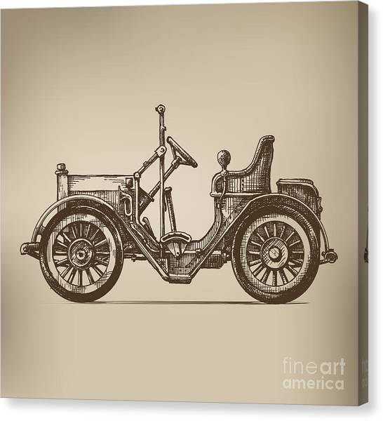 Speed Canvas Print - Retro Automobile by Ava Bitter