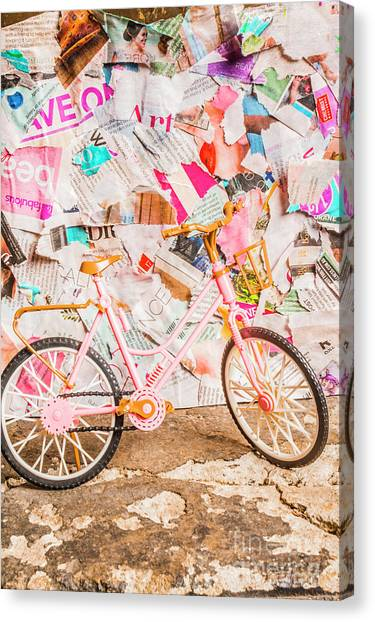 Nobody Canvas Print - Retro City Cycle by Jorgo Photography - Wall Art Gallery