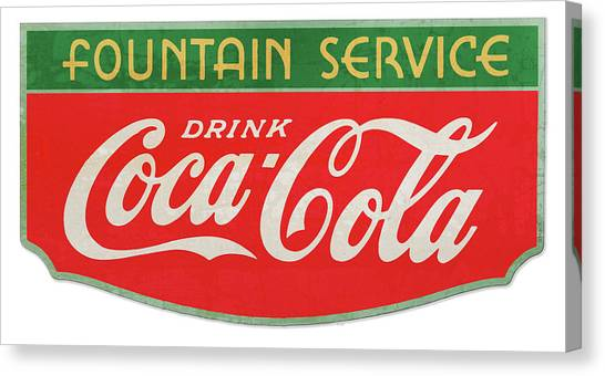 Soda Canvas Print - Retro Coke Sign by Greg Joens