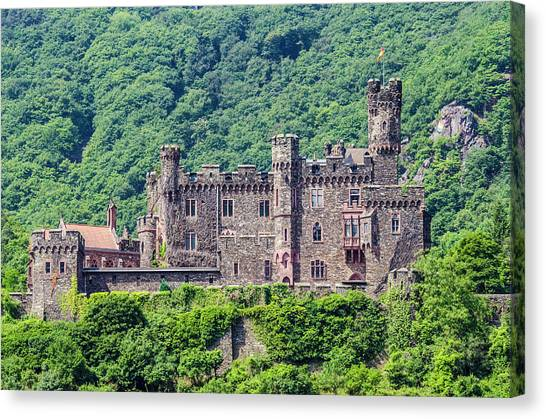 Rheinstein Castle - 2 Canvas Print