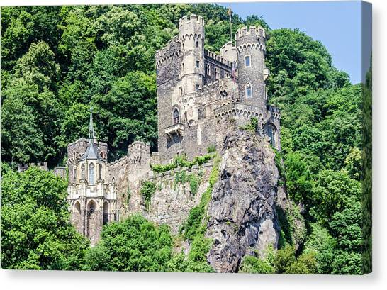 Rheinstein Castle Canvas Print