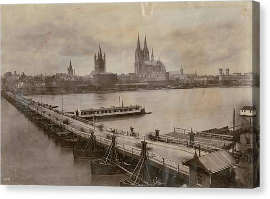 Rhine In Cologne Canvas Print by Hulton Archive