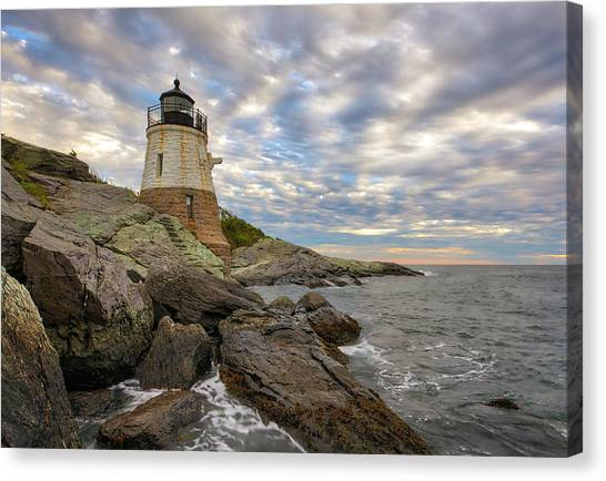 Canvas Print featuring the photograph Rhode Island Castle Hill Lighthouse by Juergen Roth