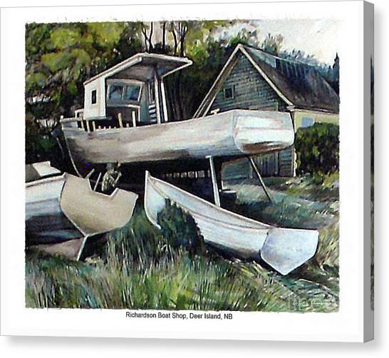 Richardson Boat Shop Canvas Print