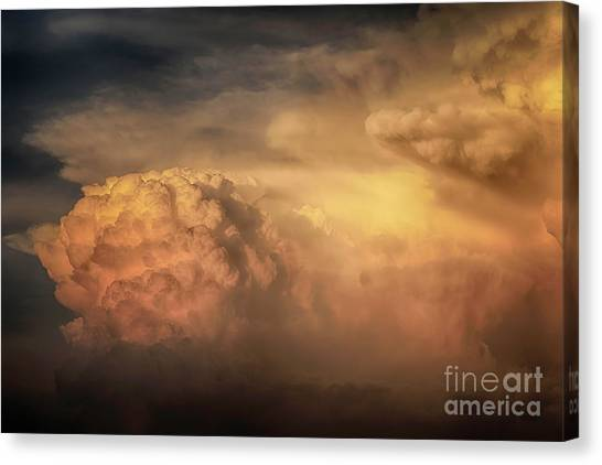 Ride For The Sunset Canvas Print