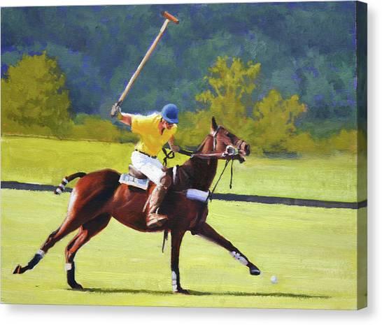 Polo Canvas Print - Ringer by Armand Cabrera