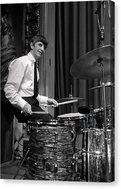Ringo Starr, Drummer Of The Beatles Pop Canvas Print