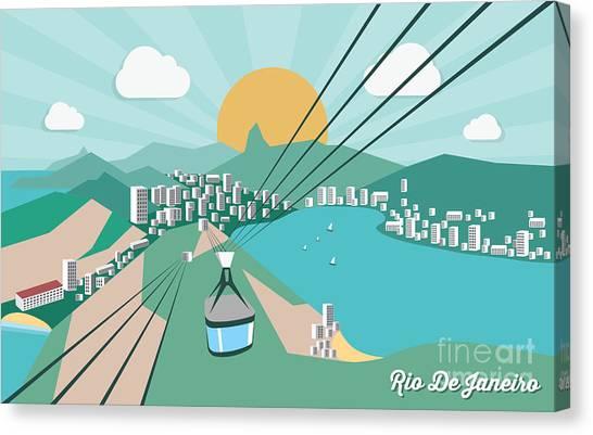 South American Canvas Print - Rio De Janeiro - Vector Illustration by Petrovic Igor