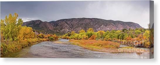 Rio Grande River Canvas Print - Rio Grande Del Norte As It Makes Its Way Through Orilla Verde - Pilar New Mexico by Silvio Ligutti