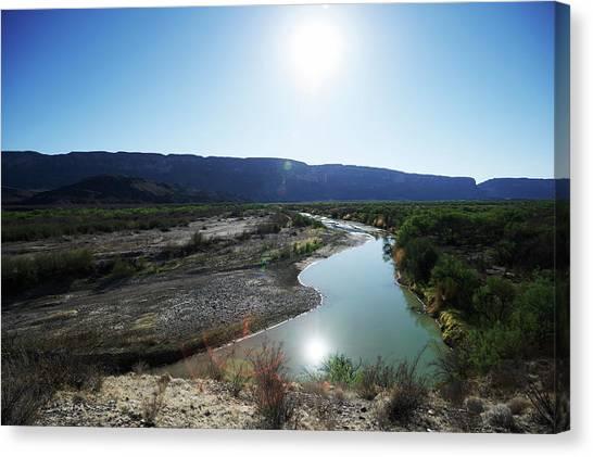 Rio Grande River Canvas Print - Rio Grande River At Big Bend by Cameron Davidson