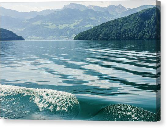 Ripples On Lake Lucerne Canvas Print
