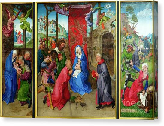 State Hermitage Canvas Print - riptych, Adoration of the Magi, by Peter Barritt