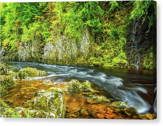 River Garry, Pass Of Killiecrankie Canvas Print by David Ross