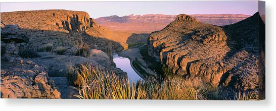 Rio Grande River Canvas Print - River Passing Through Mountains, Big by Panoramic Images