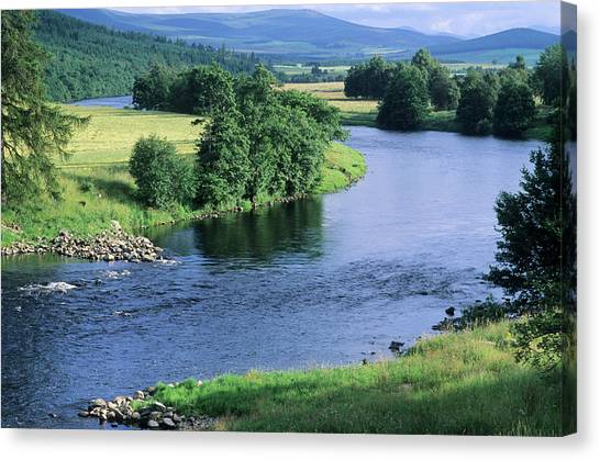 River Spey Near Grantown, Scottish Canvas Print by Neil Holmes