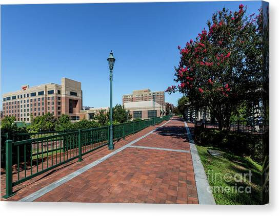 Riverwalk Downtown Augusta Ga Canvas Print