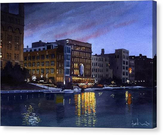 Riverwalk Nocturne Canvas Print