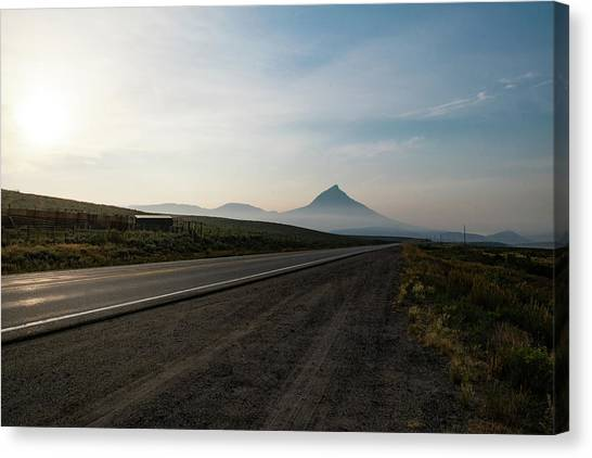 Road Through The Rockies Canvas Print