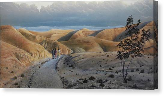 Road To Emmaus Canvas Print