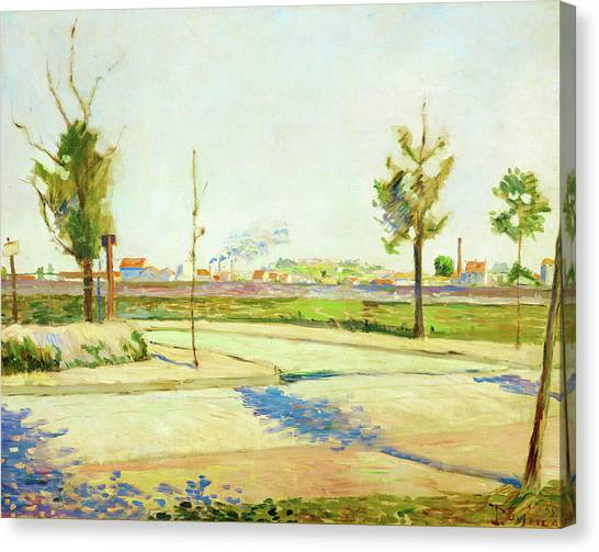 Signac Canvas Print - Road To Gennevilliers - Digital Remastered Edition by Paul Signac