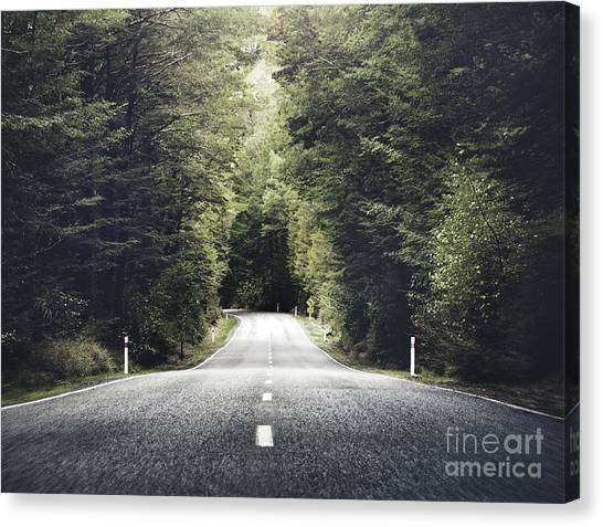 Beauty Canvas Print - Road Travel Journey Nature Scenic by Rawpixel.com