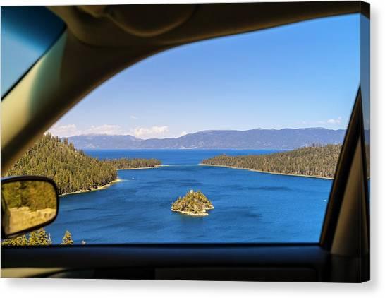 Road Trip, Lake Tahoe, Usa Canvas Print