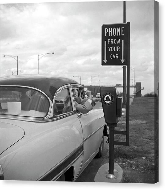 Roadside Public Telephone Canvas Print