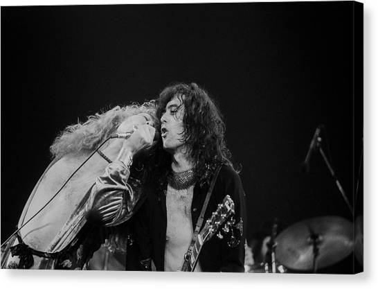 Jimmy Page Canvas Print - Robert Plant And Jimmy Page by Art Zelin