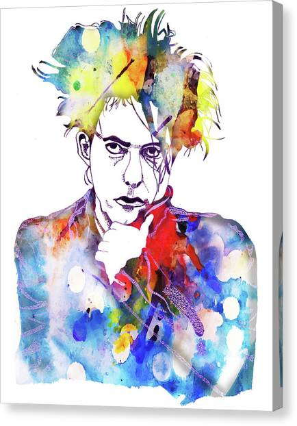 Robert Smith Music Canvas Print - Robert Smith 3 by Christine Perry