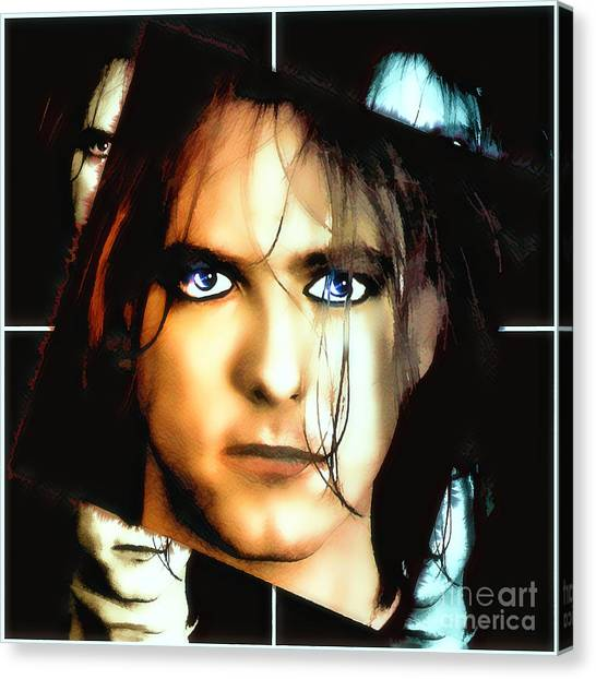 Robert Smith Music Canvas Print - Robert Smith Clever Bloke by Robert Radmore