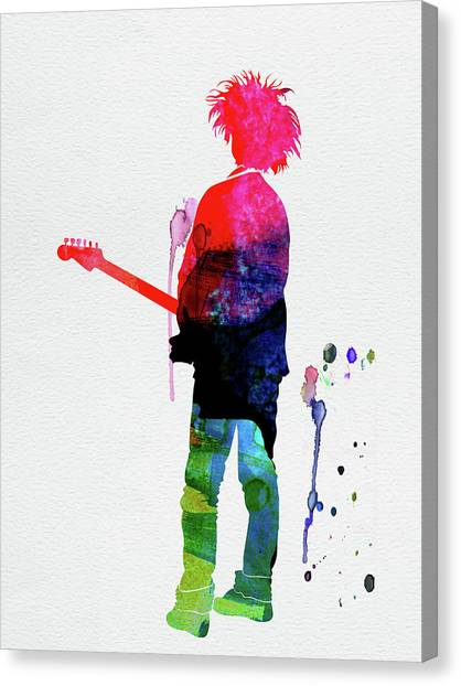 Robert Smith Music Canvas Print - Robert Smith Watercolor by Naxart Studio