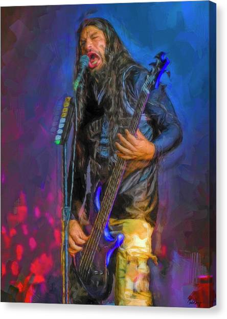Jeff Hanneman Canvas Print - Robert Trujillo by Mal Bray