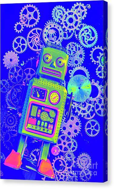 Droid Canvas Print - Robot Reboot by Jorgo Photography - Wall Art Gallery