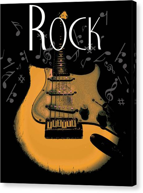 Rock Guitar Music Notes Canvas Print