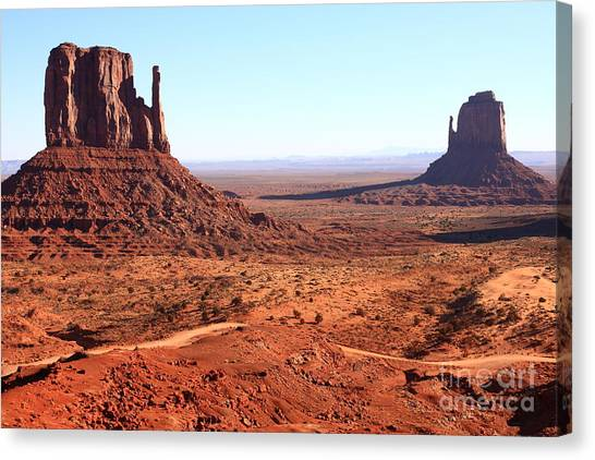 Countryside Canvas Print - Rock Monuments  Of Utah Usa Monument by Bestjeroen