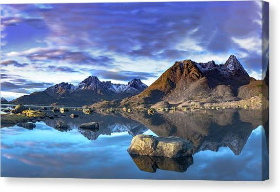 Rock Reflection Landscape Canvas Print