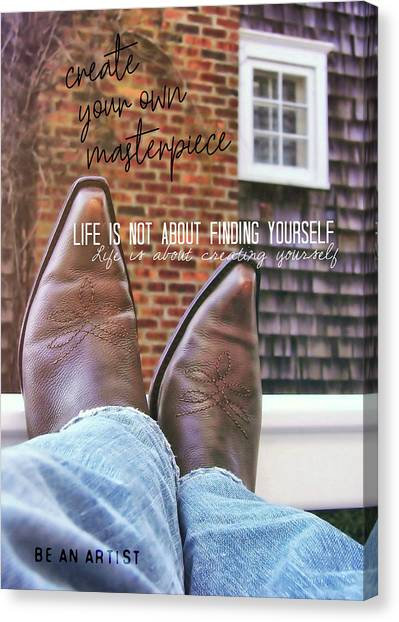 Rocking Kicks Quote Canvas Print by JAMART Photography