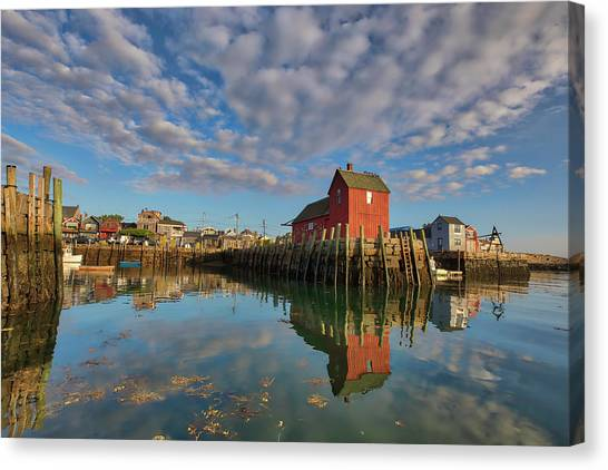 Canvas Print featuring the photograph Rockport On Cape Ann Massachusetts by Juergen Roth
