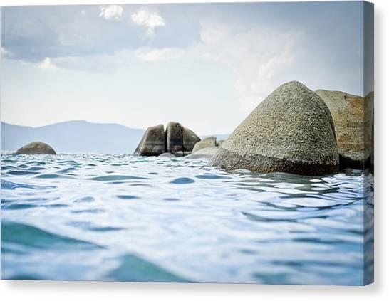 Rocks In Lake Tahoe Canvas Print