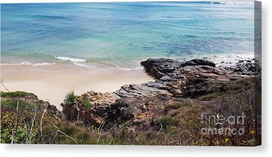 Rocks Sand And Water  Canvas Print