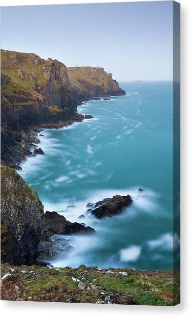 Cliff Burton Canvas Print - Rocky Cornish Coastline Near Padstow by Adam Burton / Robertharding