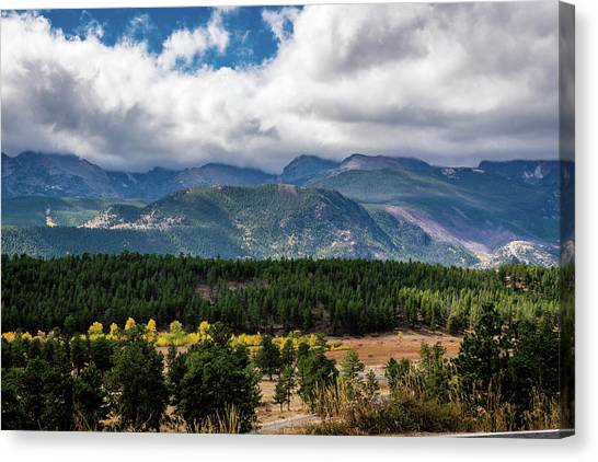 Canvas Print featuring the photograph Rocky Foothills by James L Bartlett