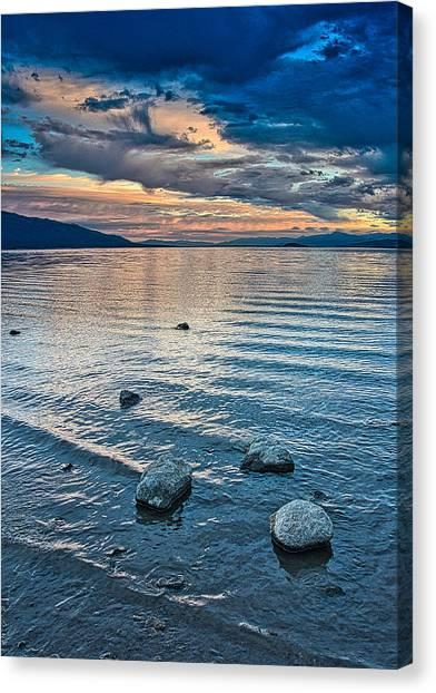 Rocky Lake Vista Canvas Print