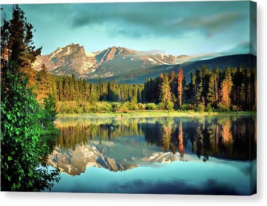Canvas Print featuring the photograph Rocky Mountain Morning - Estes Park Colorado by Gregory Ballos