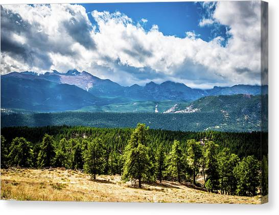 Canvas Print featuring the photograph Rocky Mountain Np I by James L Bartlett