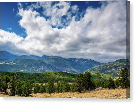 Canvas Print featuring the photograph Rocky Mountain Np II by James L Bartlett