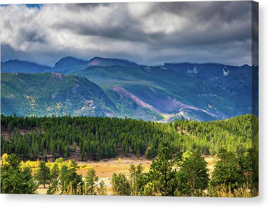 Canvas Print featuring the photograph Rocky Mountains - Green by James L Bartlett