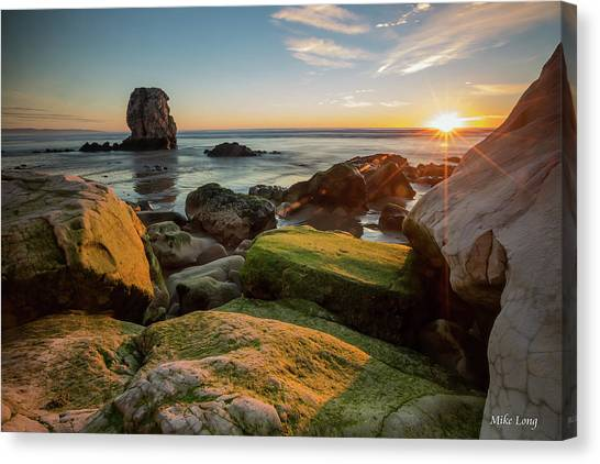 Rocky Pismo Sunset Canvas Print