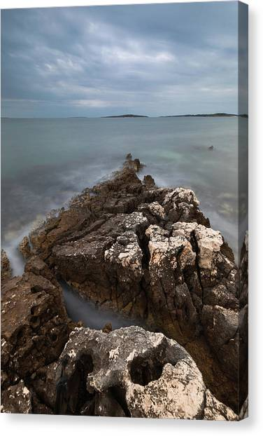 Canvas Print featuring the photograph Rocky Triangle by Davor Zerjav