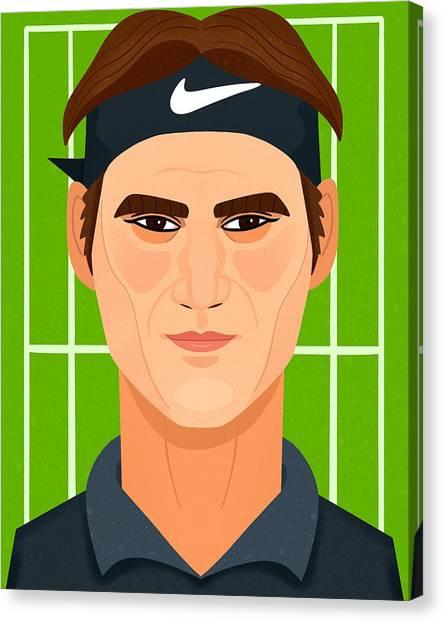 Roger Federer Canvas Print - Roger Federer by Nicole Wilson